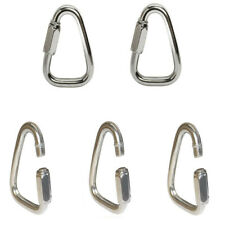 Triangle Quick Link Shackle Rig Boating 5 Pc 1/4 Inch Marine Stainless Steel 316