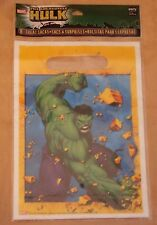 8 Marvel The Incredible Hulk Birthday Treat Sacks Party Favor Bags, New in Pack