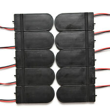 5x Simple CR2032 3V Button Coin Cell Battery Holder Case Box With On-Off