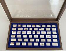 Franklin Mint 50 State Flag Sterling Silver Ingots ~ Original owner ~ Exc