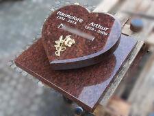 Liegestein Herz Granit 40x40 Grabstein Grabplatte Gedenkstein Grabmal Urnenstein
