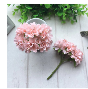 1bunch8pcs Mini Paper Rose Fake Flower Bouquet Wedding Decoration