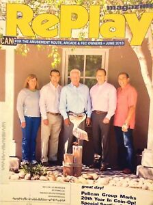 RePlay Arcade Magazine Pelican Group 20th Year In Coin-Op June 2013 012118nonrh