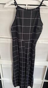 NWT RRP;£22.99 New Look Black Check Wide Leg Stretch Culottes Jumpsuit  Sz 16UK