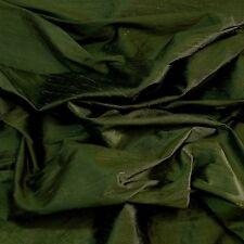 "Iridescent Cypress Green Dupioni 100% Silk Fabric, 44"" Wide, By The Yard (S-226)"