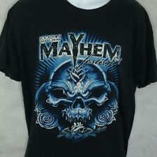 Rockstar Mayhem Festival Concert T-shirt Sz L Slipknot DragonForce First Annual