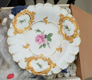 MEISSEN LARGE PORCELAIN HAND PAINTED PLATE GERMAN MADE
