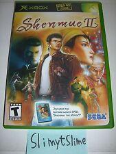 Shenmue II 2 w/ Shenmue: The Movie DVD (SEGA, Microsoft Xbox, 2002) — Very Good!