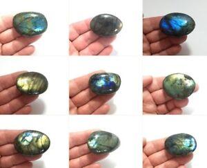LABRADORITE Pebble Mini Palm Stone Polished Spectrolite Mineral Crystal, Psychic