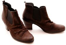 EUC PAUL GREEN Jano Brown Nubuck Leather Chelsea Ankle Boot Size EU6.5 US9M