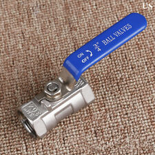 "Ball valve 3/4"" inch Stainless steel one piece CF8 NPT Thread water oil gas US"