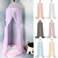 FE- PW_ Kid Baby Bed Canopy Hanging Mosquito Netting Tent Room Decor Crown Round