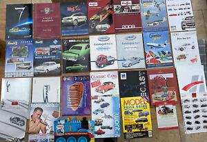 25 x Maisto Spark Solido Gemini Welly Norev Revell CMC Rio catalogues brochures