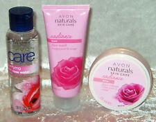 Avon Care Rose 3-teiliges Gesichtspflege Set Gesichtswasser Creme und Maske NEU