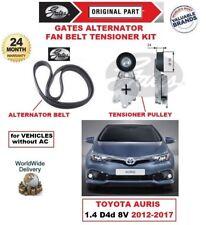Gates Courroie Ventilateur Kit Tendeur (6 Côtelé) pour Toyota Auris 1.4 D4d 8V