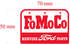 FOMOCO RED  replica decal 70MM BY 50MM gloss laminated STICKER