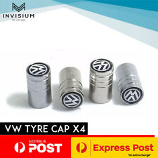 Volkswagen VW BLACK Car Tyre Stems Valve Cover Caps Golf GTI POLO Amarok PASSAT