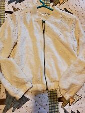 ABERCROMBIE Light Floral Cut Out Zip Up Jacket Girls Size XLarge XL 16 Gorgeous