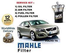 für Volvo V60 2.0 T5 2010> 4 Stück Wartung Set Öl Luft Kraftstoff Pollenfilter
