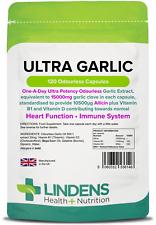 Ultra Garlic 15000mg Capsules (120 pack ) Heart & Immune health [Lindens 6146]