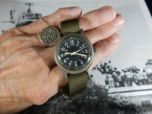 "Vietnam War era HAMILTON GG-W-113 Military Watch Jun 1976 with Hack & "" RUNS """