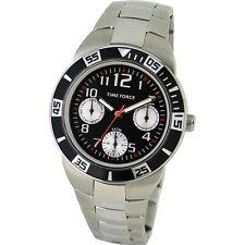 TIME FORCE TF-4120B01M  RELOJ CADETE MULTIFUNCION ACERO 50M