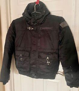 TRIPLE FAT GOOSE BOMBER JACKET W/HOODIE BLACK SZ XL NWTAG