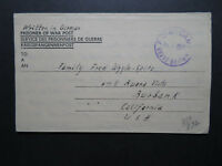 Great Britain 1947(?) POW Letter Cover to USA / Sm Back Flap Tear - Z11469