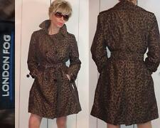 UNIQUE HARD TO FIND NWT LONDON FOG LEOPARD COGNAC DOUBLE-BREASTED TRENCH COAT PM