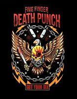 FIVE FINGER DEATH PUNCH cd lgo Got Your Six EAGLE PUNCH Official SHIRT LRG new