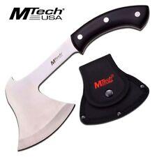 "NEW! Mtech 11"" Full Tang Black Wood Camp Axe Hatchet Throwing Tomahawk w/ Sheath"