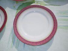 porcelaine de limoges france  unique < 6  assiettes dessert rouge et or  >