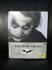 The Dark Knight Blu-Ray Steelbook [Korea] Wurple Region Free Heath Joker RARE