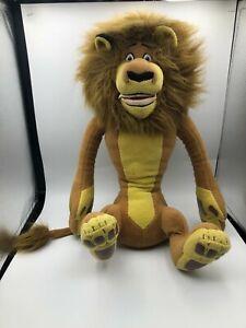 Large DWA Live Animal Madagascar Alex The Lion 2005 Plush Kids Soft Stuffed Toy