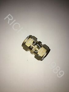 Compression 12mm Brass Straight Coupler Coupling Connector Copper Fitting new