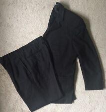 (2) Piece Suit Mens Jacket & Pants Dress Moda Italia SZ 38S 32 Black Pinstripped