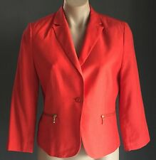 Smart Casual/ Corporate PORTMANS Tangerine Crop Blazer / Jacket Size 10