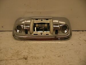 86-91 Jeep Grand Wagoneer Front Working Chrome Dome Dual Map Light Lamp