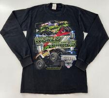 Y2K 2004 World Finals Monster Jam Truck Long Sleeve Black Small Graphic Shirt