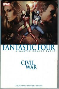 CIVIL WAR FANTASTIC FOUR TP TPB $24.99 Straczynksi Captain America 2016 ed. NEW