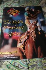 2000 Preakness Stakes Horse Racing program Red Bullet Jerry Bailey Pimlico