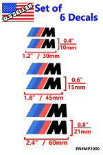 Bmw M Power Brake Caliper Decals Stickers - 3 Sizes M3 / M2 / 1M / M5 Brembo 330