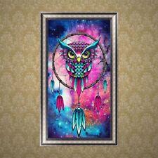 DIY 5D Diamond Embroidery Owl Rhinestone Painting Cross Stitch Home Decor