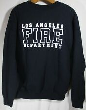 Los Angeles City Fire Department Black sweatshirt LARGE DRY BLEND Front & back