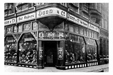 pt3415 - Boar Lane , Dunn and Co Hat Shop 1913 , Leeds , Yorkshire - photo 6x4