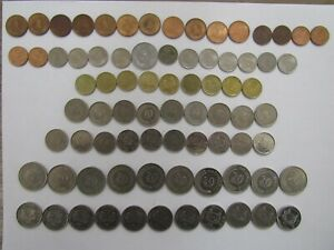 Lot of 78 Different Singapore Coins - 1967 to 2015 - Circulated
