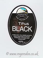 Saltaire Brewery Real Ale Pump Clip Titus Black