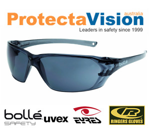 2x pairs Bolle Safety Glasses - Prism - Smoke Lens Sunglasses