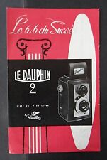 Catalogue Publicité appareil photo DAUPHIN 2 6x6 ALSAPHOT catalog Katalog