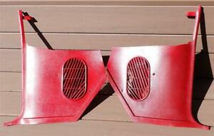 1964-1967 GM A Body Red Kick Panels Non-A/C Chevelle GTO 442 Cutlass El Camino
